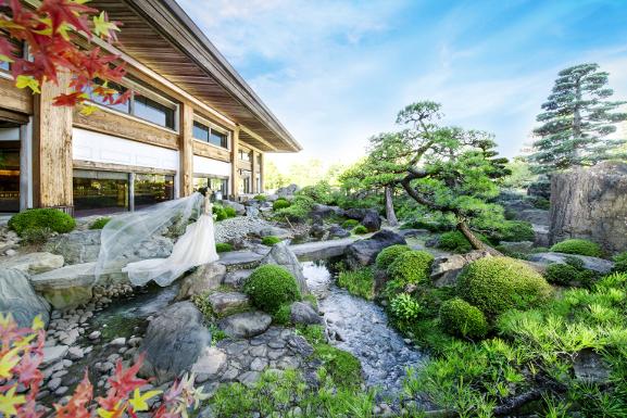 日本庭園×白ドレスHP用