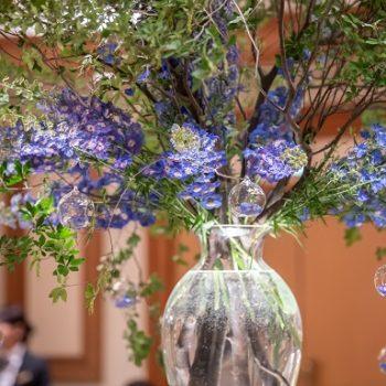 *会場を彩る装花